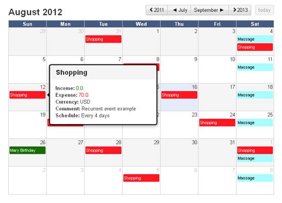 InEx Finance Calendar