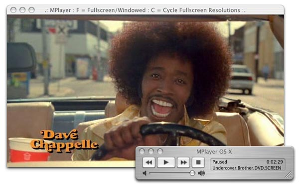 mplayer Mac HD Movie player