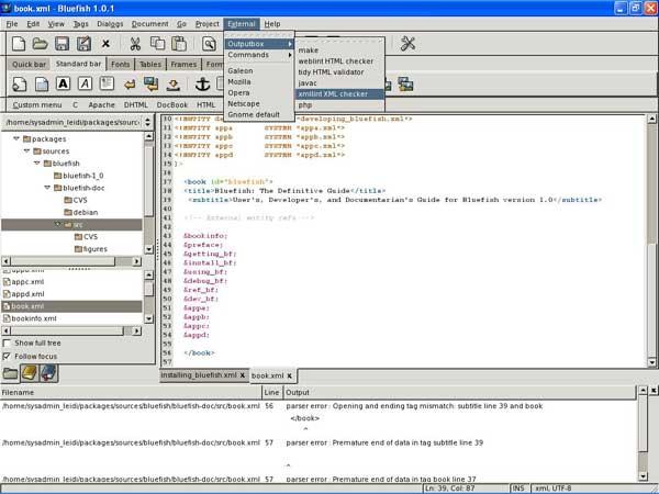 bluefish free web design software