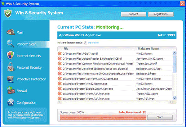 fake Windows 8 Antivirus