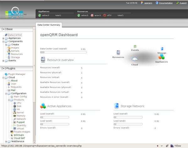 OpenQRM Free Cloud Platform