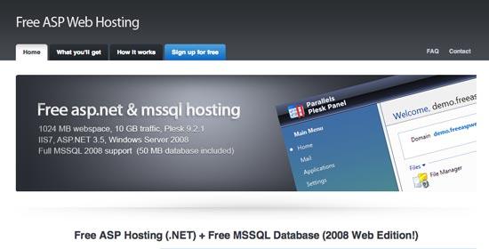 Free ASP Web Hosting
