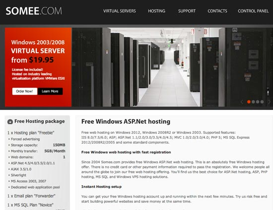Somee Free Windows ASP.net Hosting
