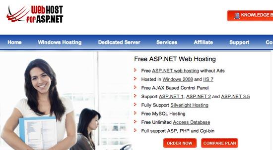 Web host for asp.net
