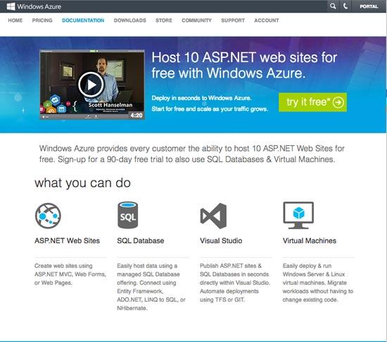 Windows Azure Free Windows hosting
