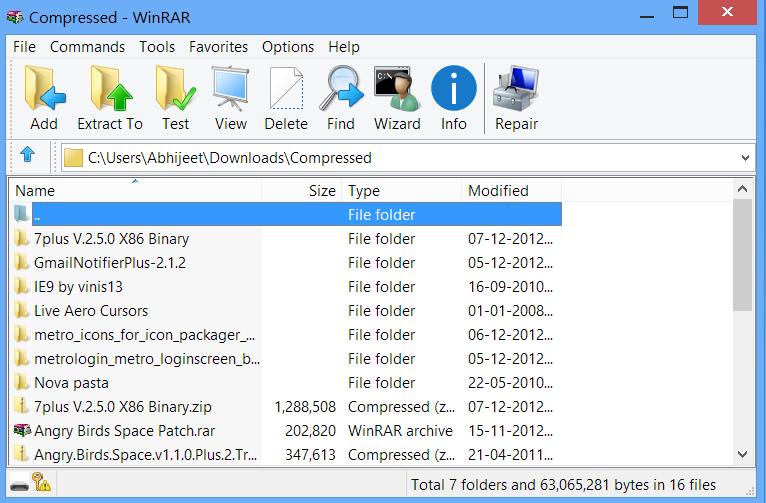 WinRAR Windows 8