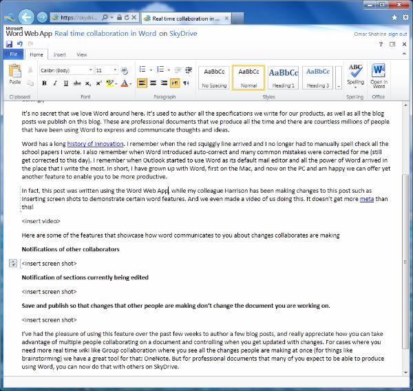 SkyDrive Online Docs Viewer