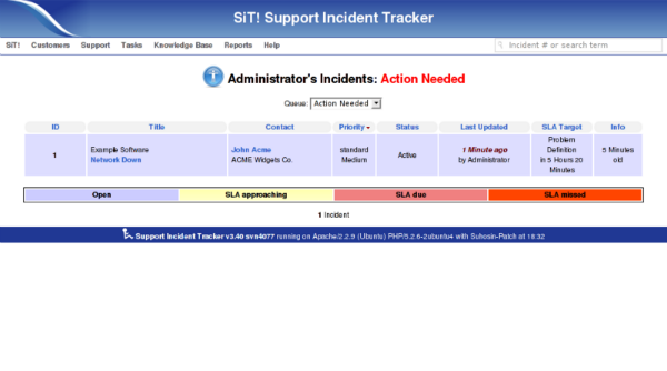 Support Incident Tracker - Help Desk Ticketing