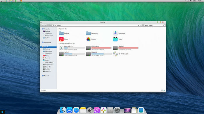 Yosemite Transformation pack setup