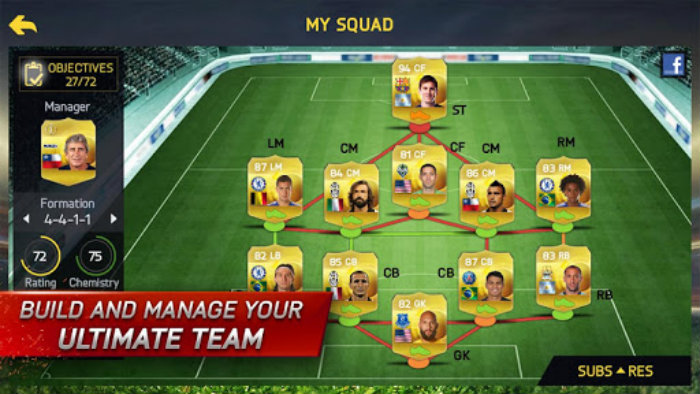 Android Fifa 15 Squad