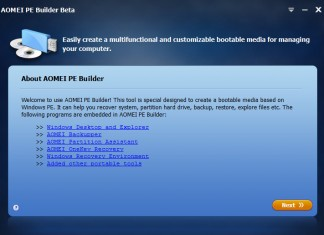 Aomei PE Builder - Bootable Windows PE