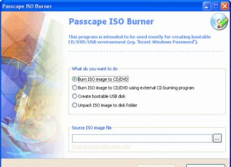Passcape ISO Burner Burn ISO option