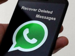 Recover deleted whatsApp message